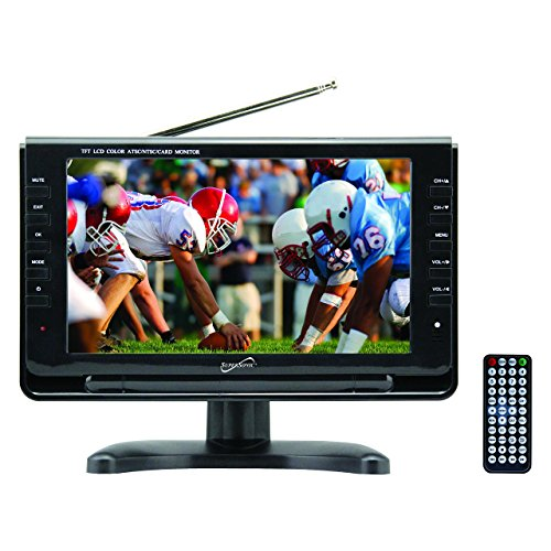 SuperSonic SC-499 Portable Widescreen LCD Display with Digital TV Tuner, USB/SD Inputs and AC/DC Compatible for RVs, 9-Inch (Coby Portable Tv)