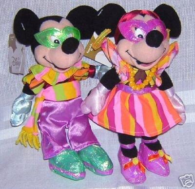 Disneys Mardi Gras Mickey and Minnie New in -