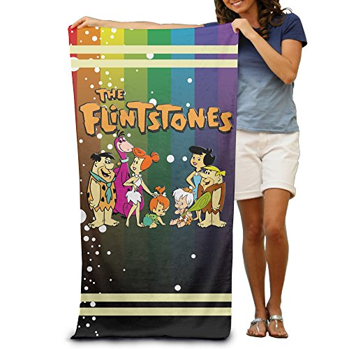 [^GinaR^ 300g The Flintstones Stylish Fiber Reactive Beach Towel] (Fred And Wilma Costumes To Make)