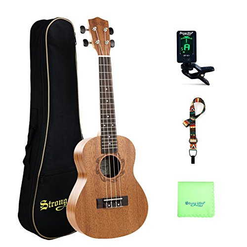 Concert Ukulele 23 Inch Mahogany Ukulele Starter Kit for Beginners with Gig Bag