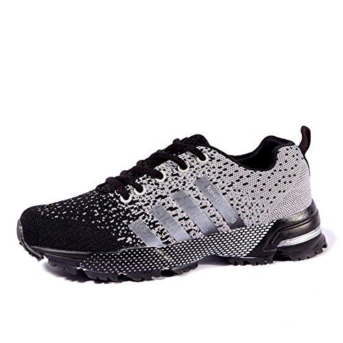 Zapatos de Mujer New Flying Line Sneakers, Amantes de los Zapatos Casuales Respirables con Cordones, para el Equipo de la Aptitud, Foot Basket Sports, Cycling Sports Re