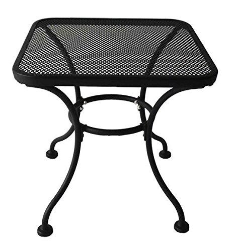 Heavy Duty Steel 18 Square Latticework Tabletop Patio Yard Porch Outdoor Coffee Side End Table – Black
