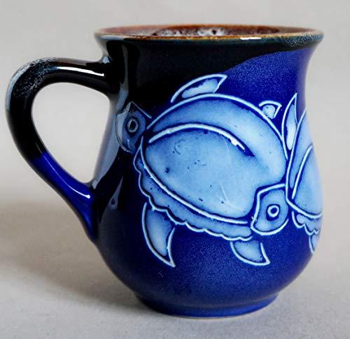 - Blue ceramic mug, Turtle coffee mug, Tea cup Sea turtle pottery mug, Holiday gift, Handmade stoneware tea cup