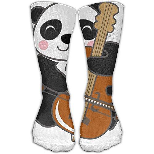 Panda Playing Guitar Women & Men Socks Soccer Sport Tube Stockings Length -