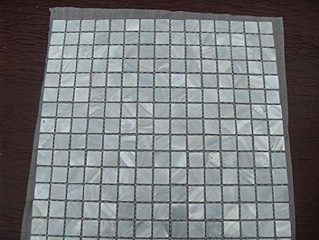 Piastrelle in mosaico madreperla foglio con conchiglie naturali