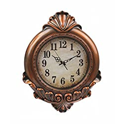Oversized Vintage Wall Clock,Silent Wall Clock Non Ticking for Living Room Kitchen Bathroom Bedroom Round Retrol Decor Boutique Clock (29 Inch,Antique Wood)
