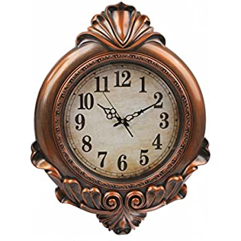 this item oversized vintage wall clocksilent wall clock non ticking for living room kitchen bathroom bedroom round retrol decor boutique clock 29 inch
