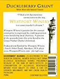 "Westport Winery ""Duckleberry Grunt"" Gewürztraminer & Blueberry/Huckleberry wine blend (Benefits the Grays Harbor Ducks Unlimited) 750 mL Wine"
