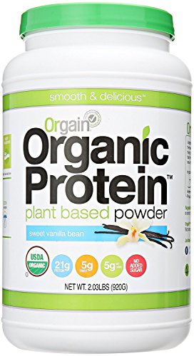 Orgain Organic Protein Plant-Based Powder, 2.03 Pound (2 Pack Vanilla) by Orgain