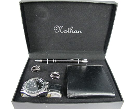 (Mens Gift Set (includes a wallet, watch, cuff link & pen))