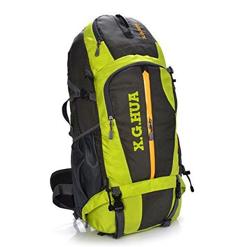Klettern Outdoor Rucksäcke Taschen 50L Männer wandern Tourismus Rucksack wasserdicht Sk - 8623, Grün