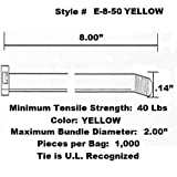 "Tach-It 8"" x 40 Lb Tensile Strength Yellow"