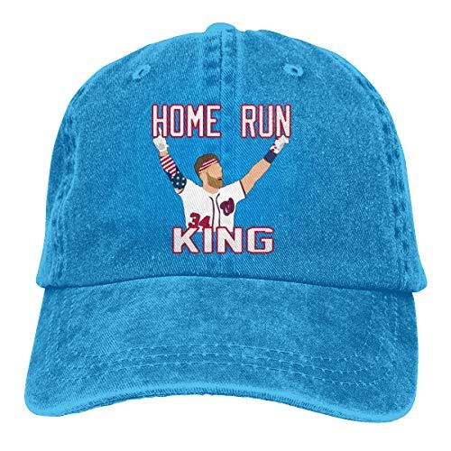 Adjustable Baseball Cap Washington Harper Home Run King Cool Snapback Hats Blue