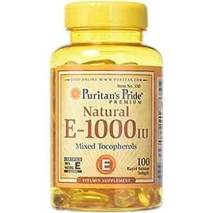 Gut Health Shop 518A6CNysVL._SS300_ Puritans Pride Puritan's Pride - Mixed Tocopherols Natural- Softgels, Vitamin E, 100 Count