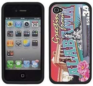 Alabama Postcard Handmade iPhone 5c Black Hard Plastic Case