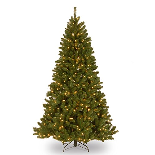 National Tree 7 Foot North Valley Spruce Tree with 500 Clear Lights, Hinged (NRV7-300-70), ()