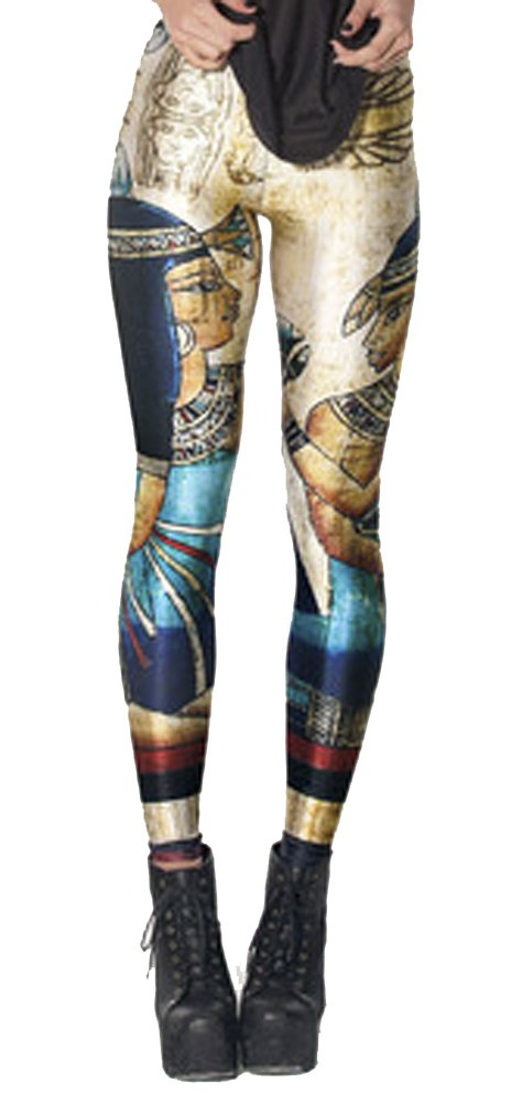 QZUnique Women's Galaxy Space Printed Footless Elastic Sexy Tights Leggings