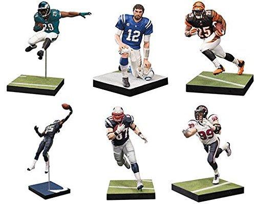 McFarlane NFL Series 36 Complete Set of 6 Action Figures Giovani Bernard, DeMarco Murray, Richard Sherman, Andrew Luck, Rob Gronkowski and JJ Watt.