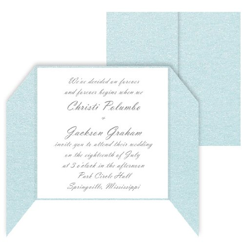 (Gatefold Invitation Enclosure - 5 5/16 x 5 5/16, Metallic Juniper Berry, 25 pack)