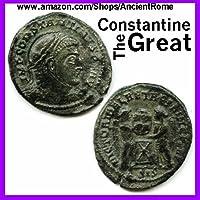 Constantino el Grande - Imperio Romano Romano Moneda de Bronce con Certificado de Autenticidad