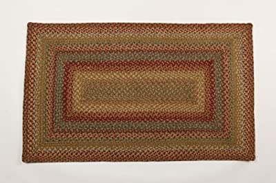 Azalea Eco Friendly Jute Braided Rectangular Rug From Green World