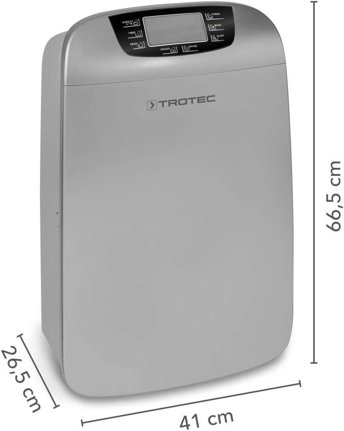 TROTEC Deshumidificador TTK 110 HEPA Deshumidificador Confort, Capacidad de deshumidificación 40l/24h, Hogar, Habitación, Oficina: Amazon.es: Hogar