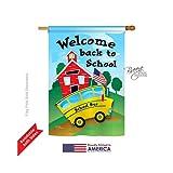 Breeze Decor H115090 Bus Special Occasion School & Education Vertical House Flag, 28″ x 40″, Multicolor Review
