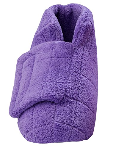 Extra Wide Swollen Feet Slippers - Soft Cozy Comfortable and (LGE, Mauve)