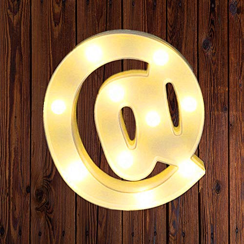 LED Marquee Number Lights Sign Light Up Marquee Letter Lights Sign for Night Light Wedding Birthday Party Battery Powered Christmas Lamp Home Bar Decoration