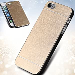 Deluxe Gold Metal Brush Case For Apple iPhone 4 4S Portable Aluminum Hard Back Cellphone Cover For iphone 4S Top Quality --- Color:silver