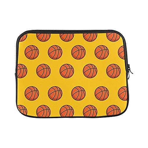 (Design Custom Basketball Sport Emblem Icon Sleeve Soft Laptop Case Bag Pouch Skin for MacBook Air 11