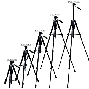 "POLAM-FOTO 70""/176.5cm 2-in-1 Tripod Monopod-Camera Tripod Aluminum Travel Tripod with Bag for Canon/Nikon/Sony DSLR/SLR Camera"