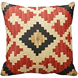 Tribal Patterns Geometric Indian Native Wester Throw Pillows 20*20 Two Sides Bedding Square Throw Pillow Case Decorative Cushion Cover Pillowcase