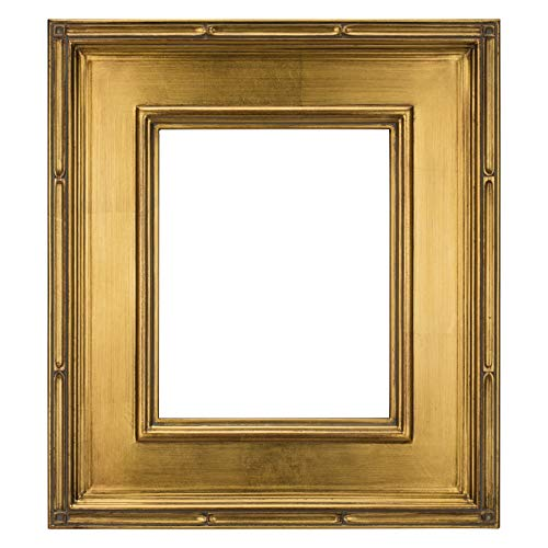 (Creative Mark Museum Plein Aire Picture Frame Wooden Art Frame Museum Quality Closed Corner Ready Made 3.5 Inch Wide Frames - [Gold Leaf - 18x24])