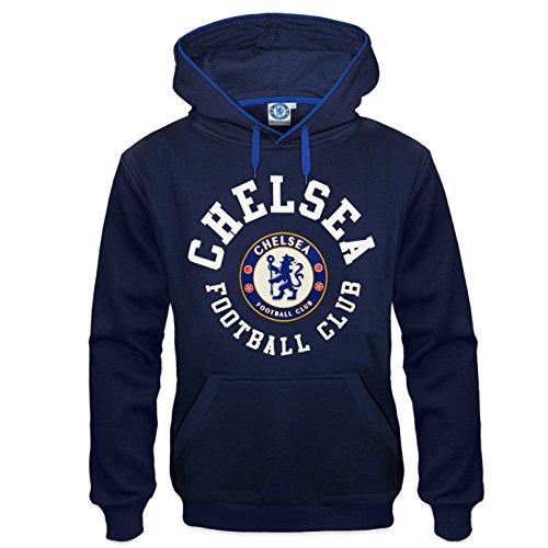 Chelsea Garment - Chelsea FC Official Soccer Gift Mens Fleece Hoody Navy Blue Medium