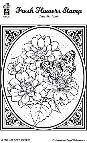 Clear Silicone Stamp by Hot Off The Press | Scrapbooking, Card Making, Gifts and Home Décor - Inspiration at Your Finger Tips (Fresh Flowers)