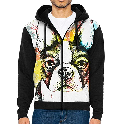 Futong Huaxia Boston Terrier Dog Travel Messenger Bags Handbag Shoulder Bag Crossbody Bag Unisex