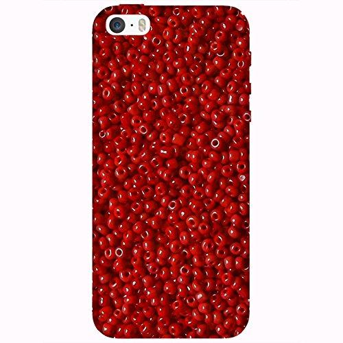 Coque Apple Iphone 5-5s-SE - Perles rouges