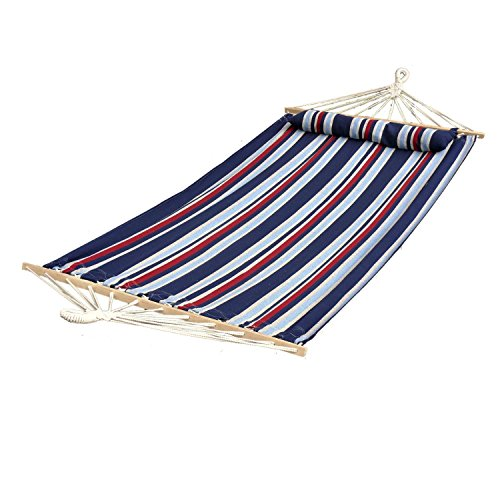 Hammock Paradise Quilted (Bliss Hammocks BH-404C Oversized Hammock with Spreader Bar and Pillow -patriot)