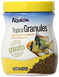Aqueon 06190 Tropical Granules Fish Food, 3-14-ounce