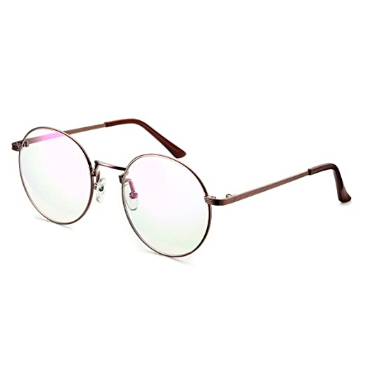 97b2145dd66 Image Unavailable. Image not available for. Color  PenSee Optical Metal  Eyeglasses Round Circle Oversized Clear Lense Eyewear Glasses Frames