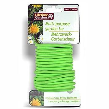Mehrzweck Bindedraht 5mx5mm grün Silikon Blumendraht Gartendraht ...