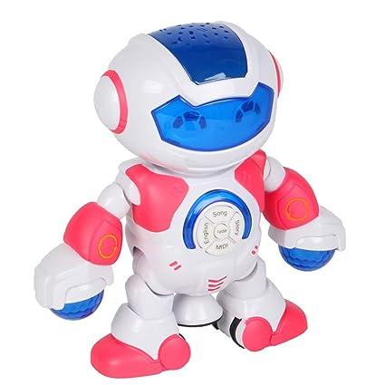 HshDUti - Robot de baile eléctrico con proyector de música ...