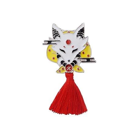 JTXZD Broche Vintage Rojo Ninja Animal Pin de Dibujos ...