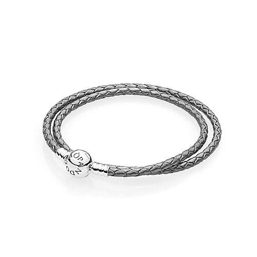 d71cc41f6601 Pandora Pulsera cuerda Mujer plata - 590745CSG-D1  Amazon.es  Joyería