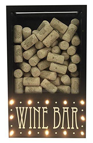 Cork Display (Wine Bar LED Light Up Cork Collector and Display, Wall Mounted, By Boston Warehouse)