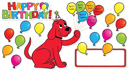 Scholastic Classroom Resources Clifford Birthday Bulletin Board (SC581919)