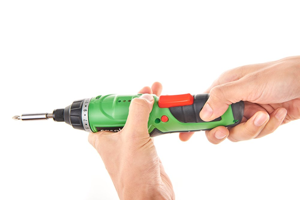 Casals C01232000 Atornillador a batería de litio, 4.7 W, 3.6 V, Verde, 3.6V