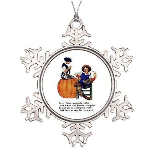 Metal Ornaments PETER PETER PUMPKIN EATER Personalised Christmas -