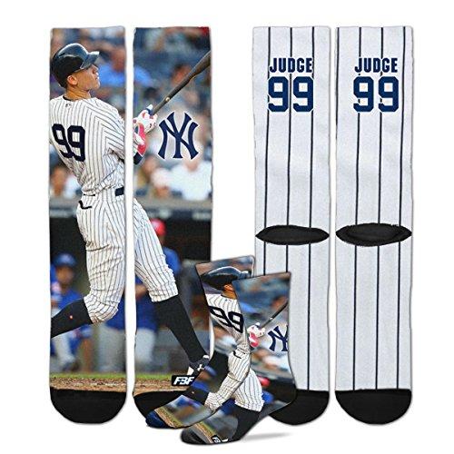 New York Yankees Sublimation Crew Socks - Aaron Judge #99 (Medium)